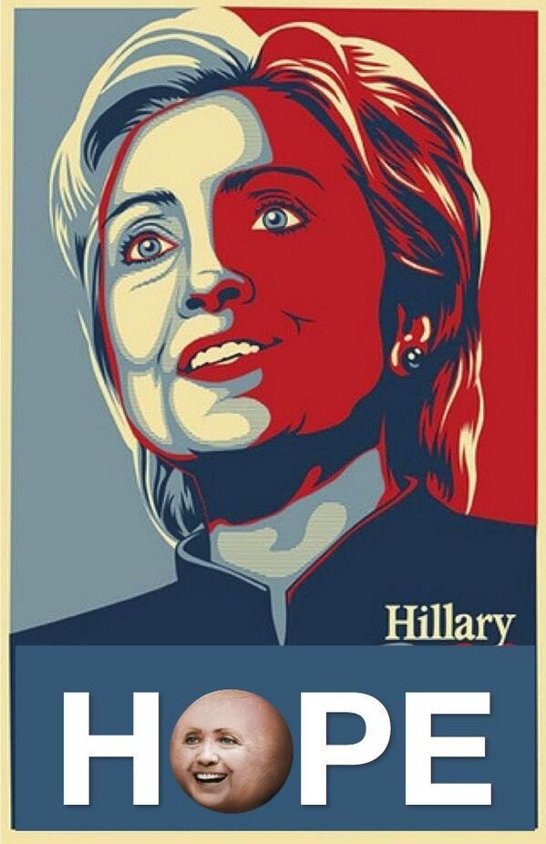New Hillary '16 campaign poster leaked. http://t.co/ekrhxk5Ebo