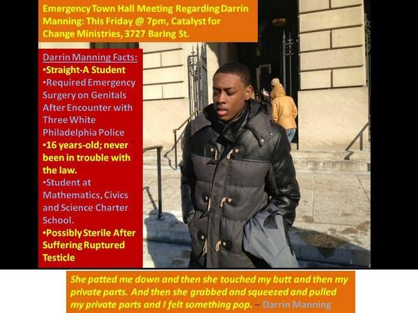 Emergency Town Hall Meeting Tomorrow #Philly for Darrin Manning. Please, please attend if you can http://t.co/T6qHjDPuYq