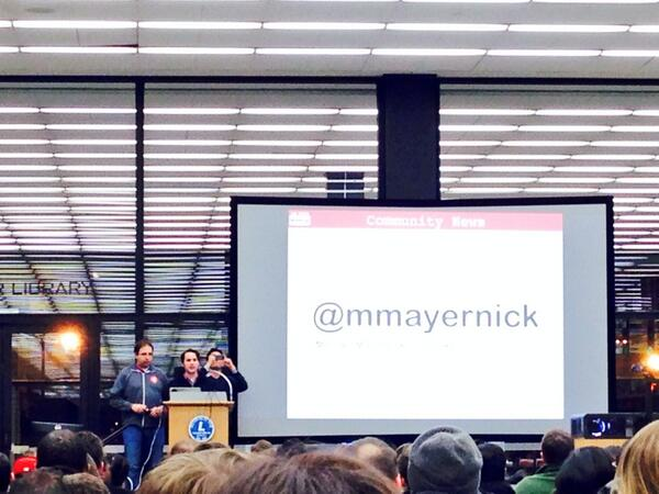 At the @dctechmeetup tonight? Be sure to say hi to @mmayernick! #dctech http://t.co/yXZ6qH0C62