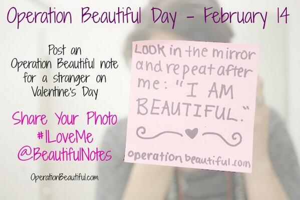 #Operation Beautiful on Valentine's Day!  https://t.co/QKrhcdb7Td http://t.co/biFxkAeWJ0