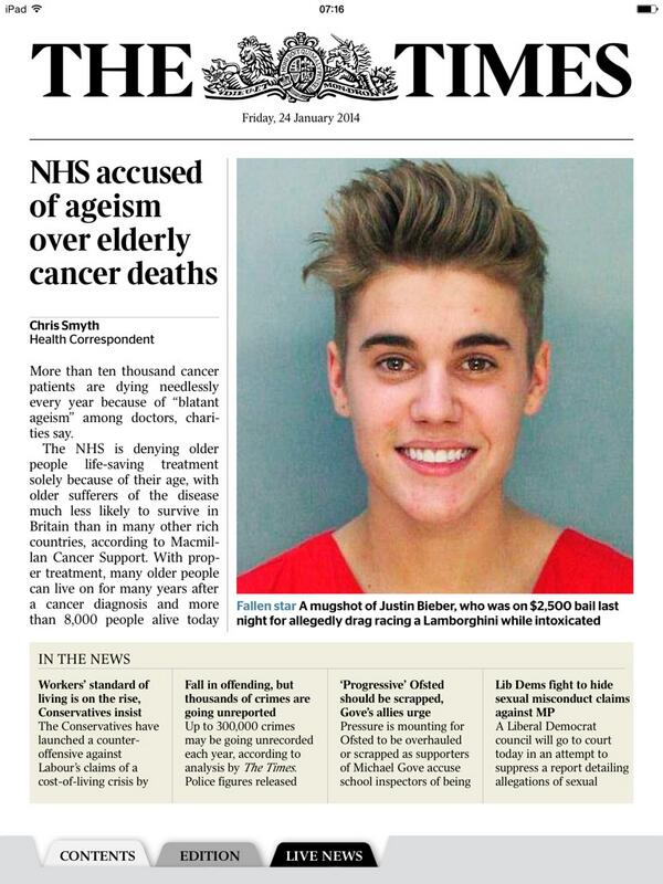Really? Front page of The Times? Come on. No one who matters cares about this! http://t.co/dS7MPl0dqw