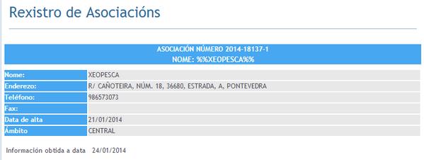 Rexistro de Asociacions Xunta de Galicia