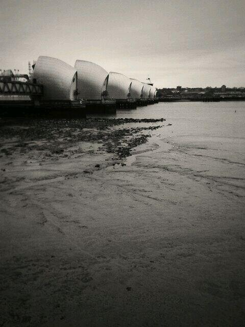 Quick walk to the Thames Barrier before #Bett2014 opens. http://t.co/AnpIJalbU9