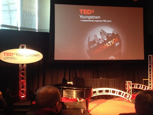 @TEDxYoungstown 5 minutes away! http://t.co/GhrCRpzTFG