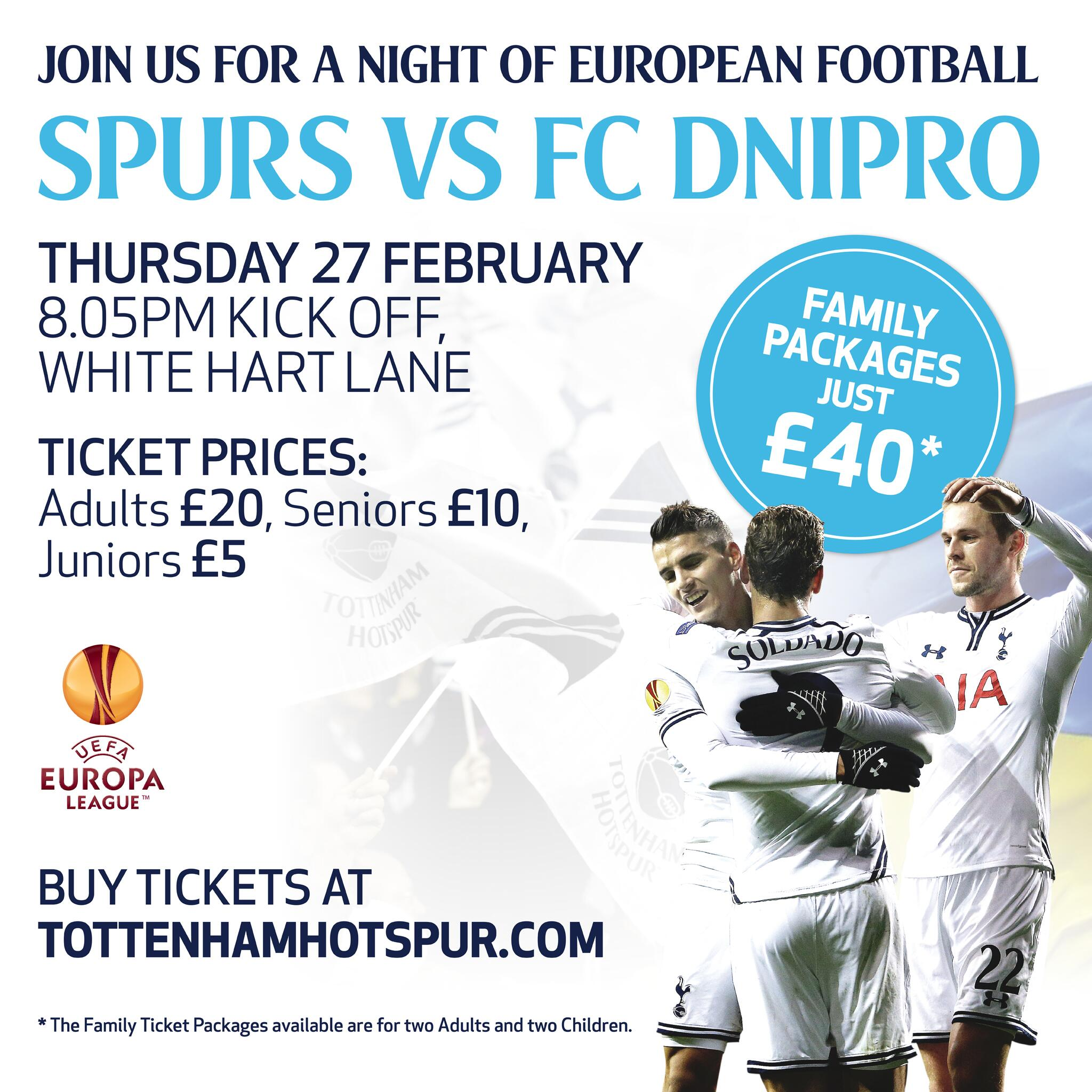 "Tottenham Hotspur Ticket Office: Tottenham Hotspur On Twitter: ""Tickets For Our"