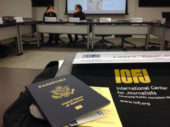 I'm at @ICFJ for a briefing with other @ProFellows before I'm #GoneToGhana. Passport ready!! http://t.co/FYnY5zcosb