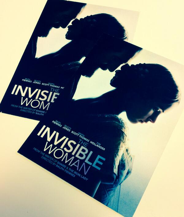Win 2 tickets to the premiere of Ralph Fiennes' #TheInvisibleWoman in central London on Monday 27 Jan. RT to enter! http://t.co/Rct3GAygQp