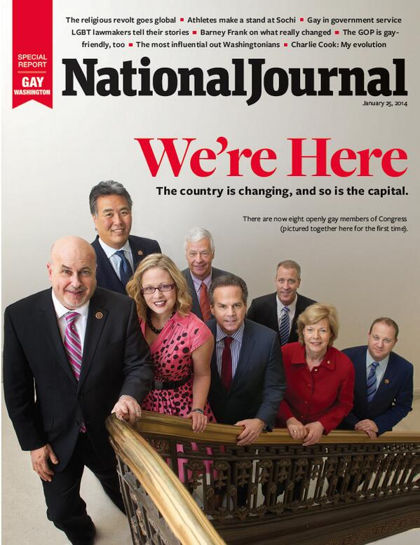 This week's cover features the first photo of all 8 openly gay members of Congress together http://t.co/w2NKXcbKp3 http://t.co/6yscXUURRP