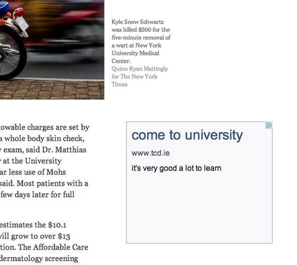 Trinity advertises on the New York Times website. It's very good. (via @jackcantillon) http://t.co/RgNdqa5a5m