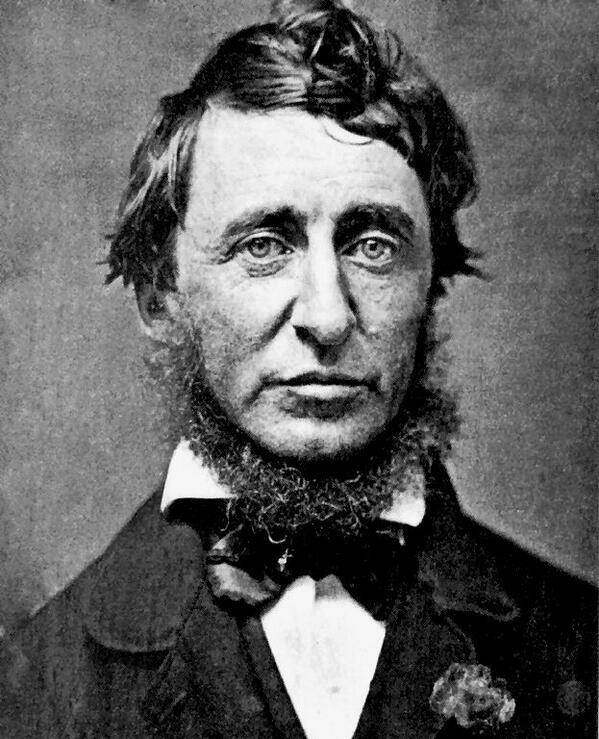 """How vain it is to sit down to write when you have not stood up to live."" —Henry David Thoreau http://t.co/cC1CE1rNaR"