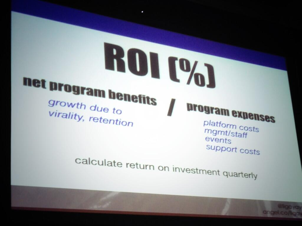Twitter / allygreer: Magic formula for #ROI via ...