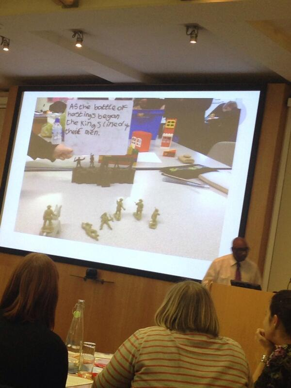 @Superlatics sharing good practise in ks3 humanities #tmuk #tmm14 story board in history with small world figures http://t.co/z8h7h6rtPu