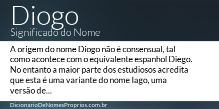significado do nome Diogo