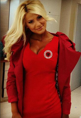 the albanian national team physio is a stunner pictures