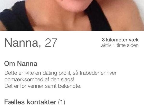 Gode dating profiler eksempel