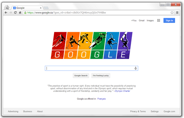 Hooray #Google & their special #Sochi2014 #GoogleDoodle standing up for #HumanRights against a certain law in #Russia http://t.co/lD8iMwPtWB