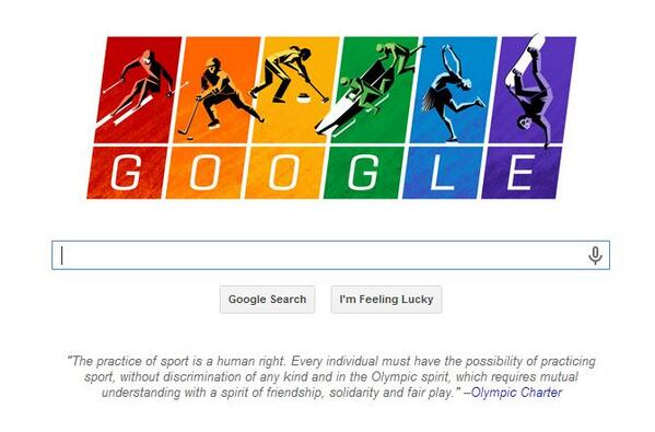 Google just rocketed in my opinion. Tasteful campaign in support of gay rights while celebrating the Winter Olympics http://t.co/6DkE6kLBxG
