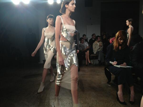 Rounding up day #1 of fashion week with Dion Lee @_DION_LEE_ #nyfw #love #metallics #milkmade @MilkStudios http://t.co/dvAJIRCaDE
