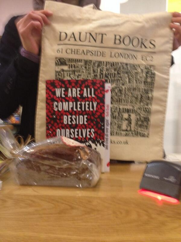 Bookseller @dauntbooks Cheapside impressed that we managed to turn #waacbo #p77 twist into a...cake! http://t.co/piXMgDUlNe
