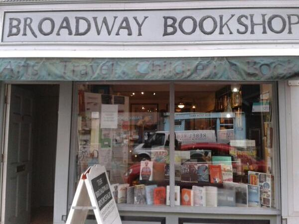 Now at the lovely Broadway Books that smells wonderfully of books inside http://t.co/ipO7FZK7IM