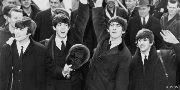 50 years ago today The Beatles landed in the USA for the first time. http://t.co/V8P1d8WVvp