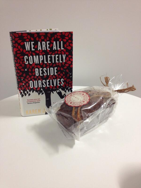 Thank you @ProfileBooks for the yummy banana loaf to celebrate We Are All Completely Beside Ourselves http://t.co/IBIecmX6GO