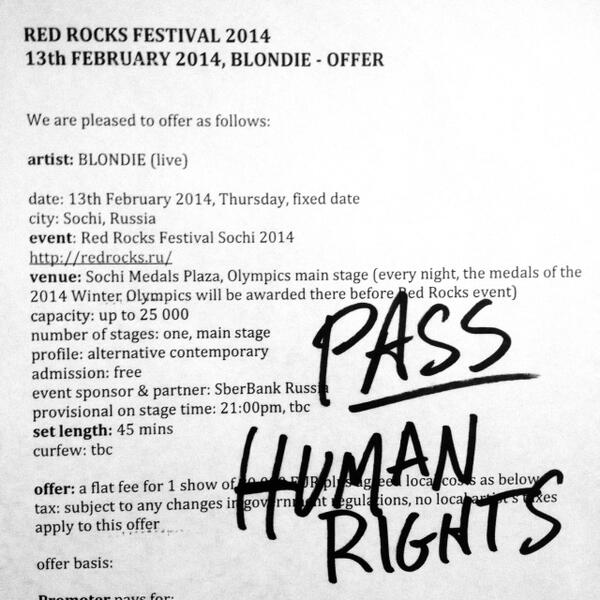 Blondie icon Debbie Harry snubs offer to play at Sochi because of anti-gay laws Bf432nECIAAETX6