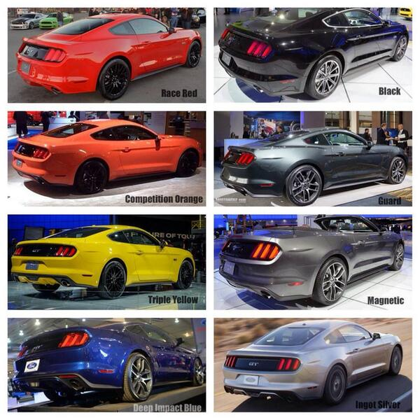 2015 Mustang Colors >> Kg Custom On Twitter Some Of The Colors So Far For The