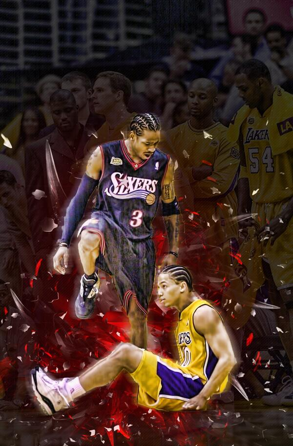 Allen Iverson 45pt vs Reggie Miller 41pts Indiana Pacers 0001 NBA Playoffs Gm2 Fancy move Duration 735 pennyccw 90848 views