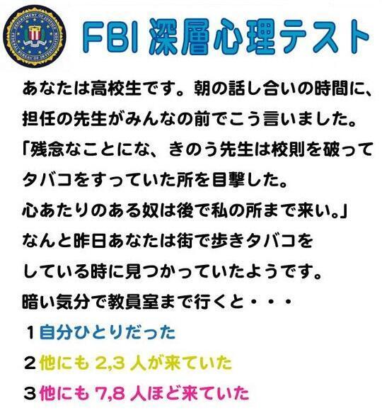 テスト Fbi
