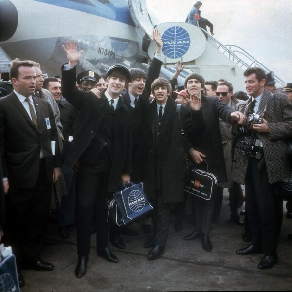 50 years ago today, The Beatles' American invasion began.  Read all about it here: http://t.co/OIFpn38o2s http://t.co/EHkngg5nU5
