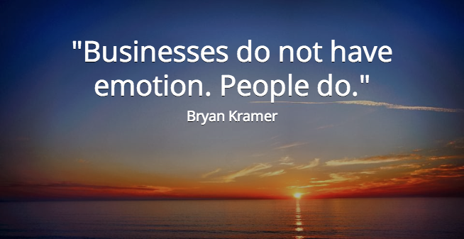Twitter / bryankramer: Businesses do not have emotion. ...