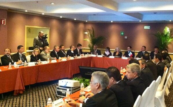 Governors Brewer and Padrés at Arizona-Mexico Commission Plenary Session in Hermosillo, Sonora