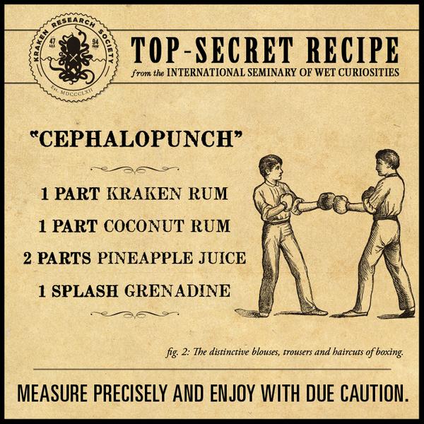 The Kraken Rum On Twitter Today S Top Secret Recipe From The International Seminary For Wet Curiosities Http T Co 1gnaklhlzq