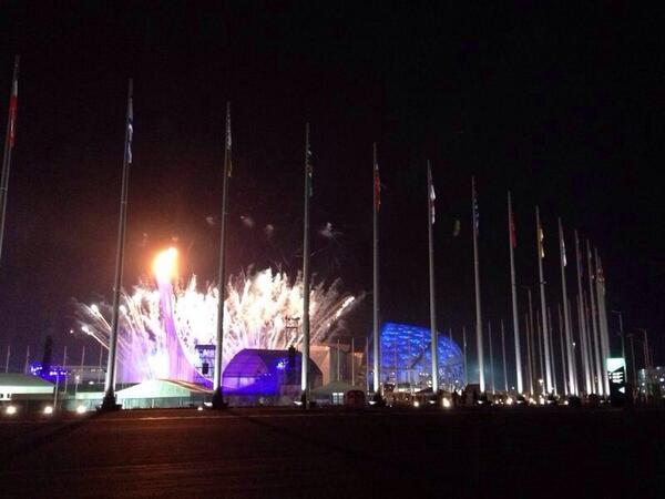The XXII Olympic Winter Games #Sochi2014 are officially open! #OpeningCeremony http://t.co/xmByBL29OK