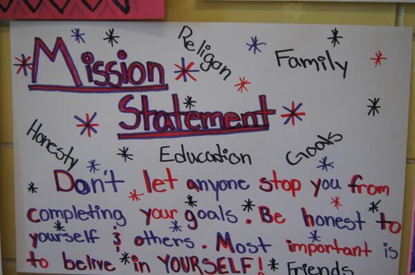 my personal mission statement as a student