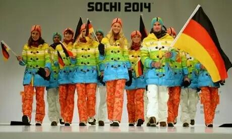 Thanks Germany, for using your like for tasteless outfits as a protest tool #Sochi http://t.co/vyGOt4r5l2