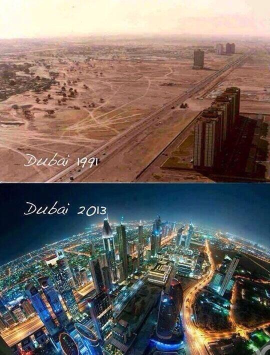 Before and after Dubai #surreal http://t.co/tEhyyfKbEE