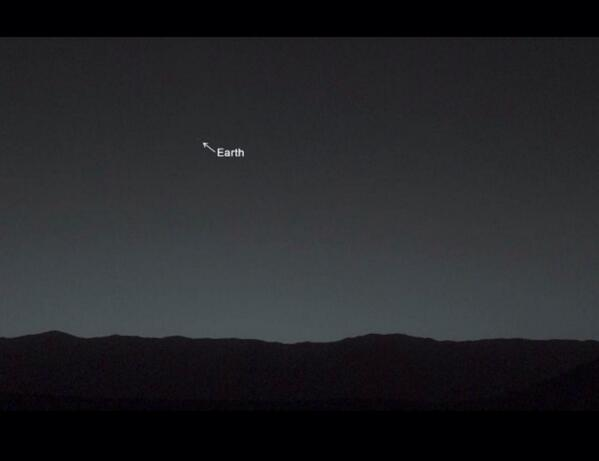 Mars Rover snaps a recent photo reminder of how small we really are. http://t.co/7BGKmakT9s