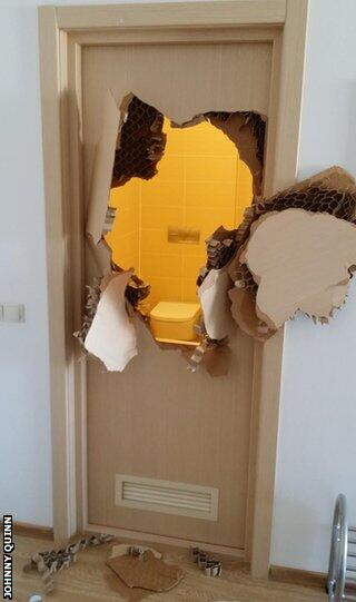 "@sochiproblems Will he pay? MT ""@BBCWorld: Trapped bobsledder smashes door at hotel  #sochiproblems http://t.co/I7ih4R8AIa"""
