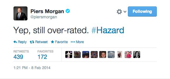 Bf99WgmCEAEsoXU Arsenal fan Piers Morgan slags off Chelsea over rated Eden Hazard as he scores a hat trick v Newcastle