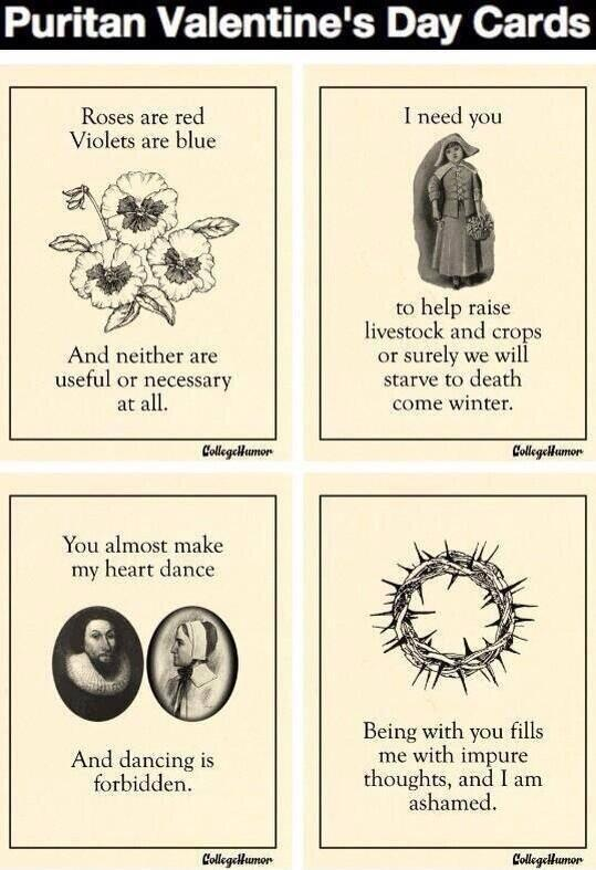 Get your Puritan Valentine's Day cards here! But don't enjoy them, or anything at all, really. http://t.co/7IpRGiA7Sl