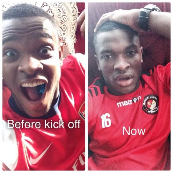 Before kick off...Now