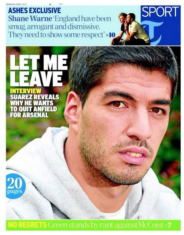 Remember when Suarez really really wanted to leave Liverpool for Arsenal