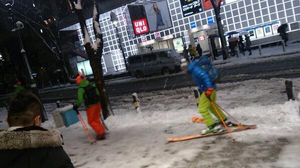 日本終了へ、明日東京に雪