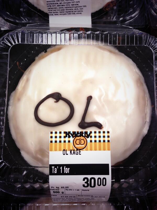 Kvickly synes lige de ville lave en OL-kage - og det gjorde de så. #Sochi2014 http://t.co/SkgocUoACd