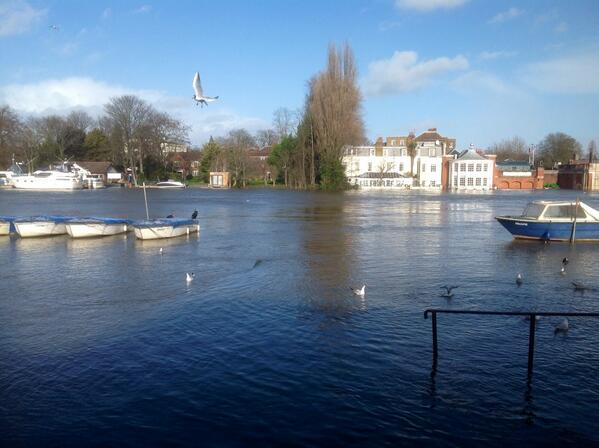 #Hampton Court, the #Mitre Hotel & #TMYC enduring the #Thames #flooding in the #Molesey reaches http://t.co/McIaWSISHz