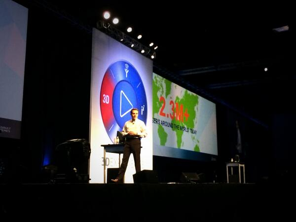 With 5600 attendees, #SWW14 is the largest attendance of all SolidWorks World events, says @BertrandSicot http://t.co/pDb37zgjAp
