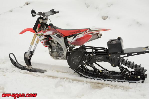 Off Road Com On Twitter Snowmobile Dirt Bike Snow Bike Diy