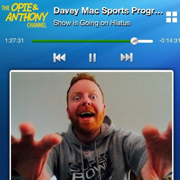We want the @EastSideDave Sports Program back on @SiriusXM on Saturday! Hiatus over!  RT!  @SiriusXM  @SXM_Help http://t.co/K4vxo8xT37
